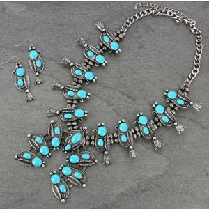Jewelry - Western Squash Blossom Necklace Set
